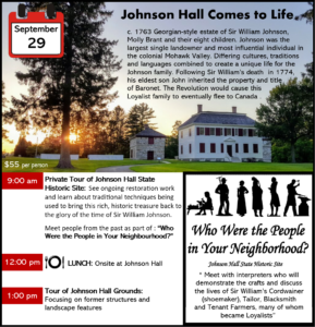 In the Footsteps of the Ancestors: An Immersive Experience of Colonial Mohawk Valley, NY @ Multiple Events in the Mohawk Valley NYS